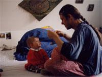 Frank Doerr mit Tochter 1997
