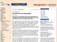 Reiki in der Financial Times Deutschland