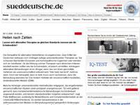Süddeutsche über Reiki in der Schmerztherapie