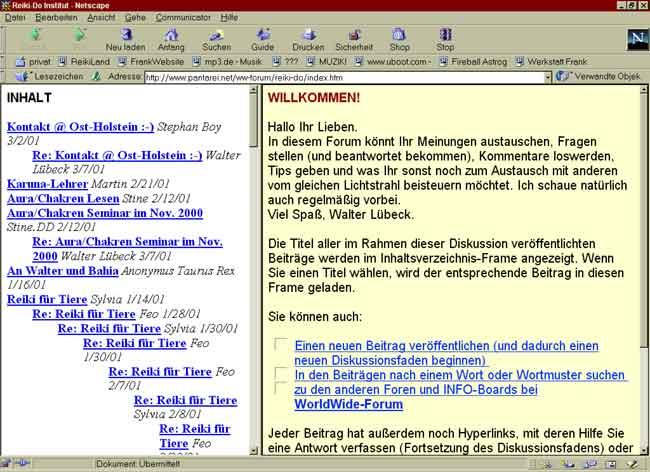 Reiki im Internet Teil 3 - Foren, Chats und Newsgroups ...